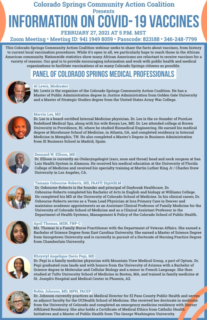 Panel of Colorado Springs Medical Professionals